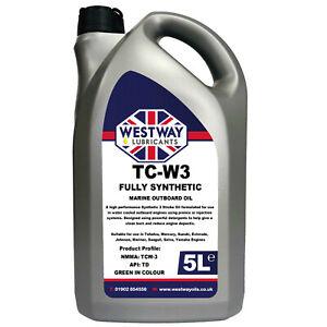 5 Litre Marine Fully Synthetic 2-Stroke Oil Two Stroke Oil 5L TCW3 TC-W3