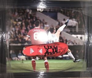 Signed Gareth Bale Framed Football Boot Real Madrid Champions League Goal
