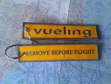 Vueling remove before flight keyring keychain low cost Spain Barcelona España