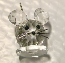"Rare Swarovski Small Mouse ~ Silver Spring Tail ,Retired 2.5"" Tall With Spring"