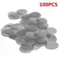 100Pcs/Lot Stainless Steel Metal Tobacco Smoking Pipe Screen 20mm Metal Filters