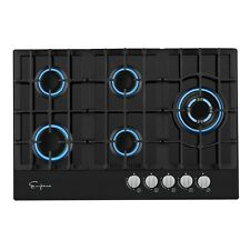 "Empava 30"" Gas Stove Cooktop LPG/NG Convertible with 5 Italy SABAF Burners Tempe"