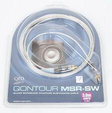 QED Qontour MSR-SW Mini Subwoofer-Kabel NEU EAN 267 3,0 m UVP war € 90,00