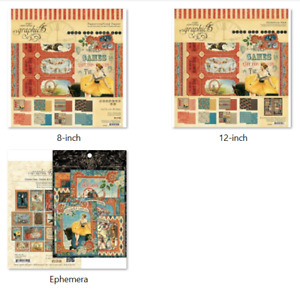 """Graphic 45 - Come One, Come All - 8"""" Pad, 12"""" Collection, Ephemera Cards"""