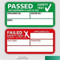 PAT Test Passed or Failed Stickers Electrical Safety Self Adhesive Labels
