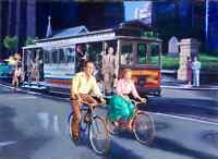 SAN FRANCISCO Bogart BaCall California Street Cable Car Bicycle Herb Caen Vancas