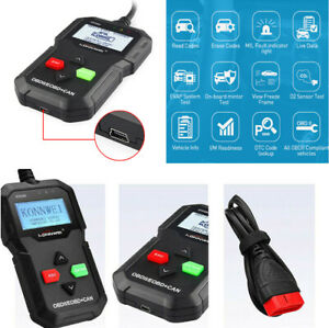 CAN OBDII EOBD Car Diagnostic Scanner Code Reader Built-in DTC Look-up Library