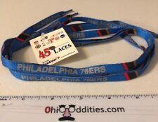 """NBA Philadelphia 76ers Basketball 45"""" Blue Shoelaces Shoestrings - NEW!"""