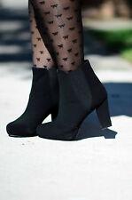 Marks & Spencer bow pattern black 20 denier tights, medium