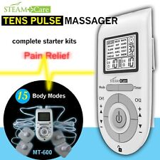 STEAM Care 15 modes TENS EMS Unit PULSE MASSAGER 8 pads FDA Cleared *US Seller*