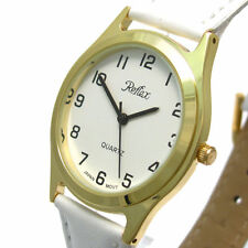 Faux Leather Unisex Adult Polished Wristwatches