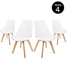 McHaus Lena Pack de 4 Sillas de Comedor - Blanco