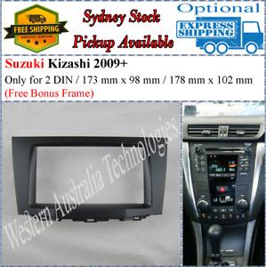 Fascia facia Fits Suzuki Kizashi 2009+ Double Two 2 DIN Dash Kit