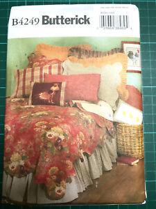 Bedroom Soft Furnishings Sewing Pattern NEW & UNCUT Butterick B4249 - 7 Designs