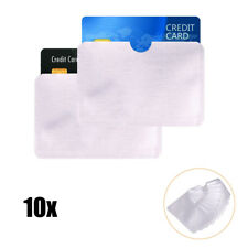 Universal Debit Credit Card Cover RFID Protector Shielded Sleeve Card Case 10Pcs