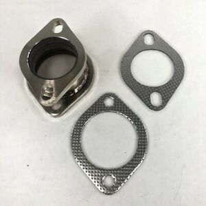 """2.5"""" to 3"""" Steel Flange Adapter 2 bolts for Exhaust Pipe Extension with Gasket"""
