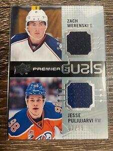 JESSE PULJUJARVI & ZACH WERENSKI 2016-17 Premier Duals Jersey #07/99