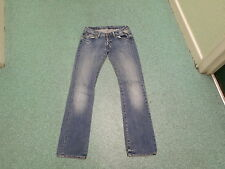 "Replay Straight Jeans Waist 26"" Leg 32"" Faded Medium Blue Ladies Jeans"