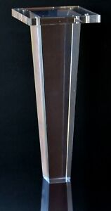 """Acrylic Lucite Furniture Legs for Sofa, Cabinet, ET Center Vanity, Large 10""""H  S"""