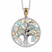 "Серебро 925 пробы желтое золото платина за опал кулон ожерелье размер 20"""