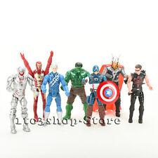 "7X Marvel Avengers Hulk Captain Iron Man Thor Hulk Hawkeye Action Figure Doll 6"""