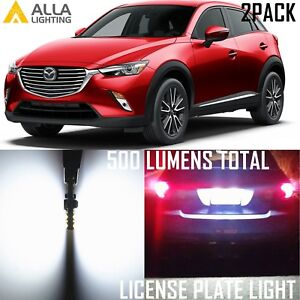 Alla Lighting License Plate Tag Light 194 White 12V LED Bulb for Mazda CX-3 CX-5