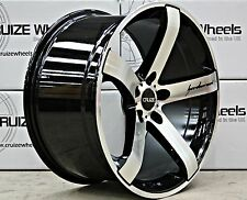 "18"" ALLOY WHEELS CRUIZE BLADE BP BLACK POLISHED CONCAVE 5X118 STAGGERED ALLOYS"