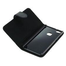 Book Case Etui Handytasche Tasche Hülle f. Huawei P10 Lite (Schwarz)