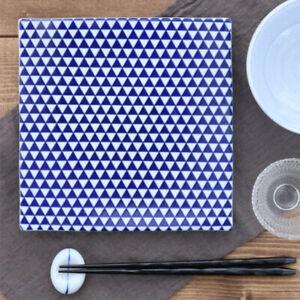 Japanese Pottery Serving Platter Side Plate Japanese Pattern Set of 4 AU Stock