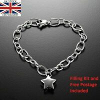 Silver Star Bracelet Keepsake Cremation Urn Ashes Funeral Memorial Jewellery