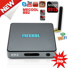 MECOOL BB2 4K HD 17.0 S912 Octa Core Android 6.0 2G/16G Smart TV Box WiFi US VIP