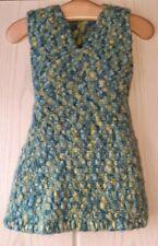 Sehr warme handgestrickte Tunika Strick-Kleid Gr. 128/134 aus reiner Schurwolle