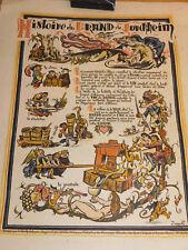 ancien AFFICHE VIN ALSACE dragon du Brand de Turckheim TURENNE E.Noack SCHERB