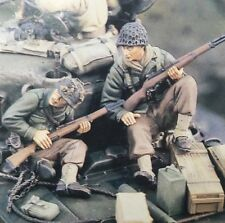 1/35 Resin WWII US Tank Riders Soldier Figures (2 figures, No Tank)