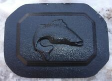 "Bass fish wall plaque mold plaster concrete casting mould 7"" x 5"" x 3/4"" thick"