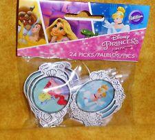 Princess,Disney Cupcake Picks,Wilton,24ct.2113-7490,Multi-Color,Fun Pix,Topper