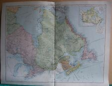 1919 LARGE MAP- CANADA, EAST
