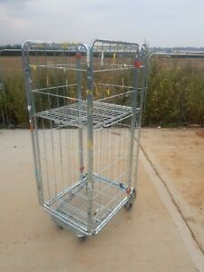 """1 X ROLL CAGE CONTAINER , ROLLING PALLET, STILLAGE , 4 SIDED """"A"""" FRAME"""