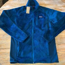 PATAGONIA Mens big sur blue R2 zip fleece jacket/NWT/MM