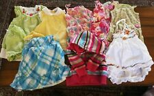 Lot of Size18 Month Baby Girl Toddler Clothing 7 Dresses and a Hooded Sweatshirt
