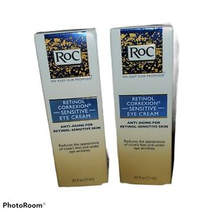 RoC Retinol Correxion Anti Aging Eye Cream Sensitive Skin 2 Pack Bundle New