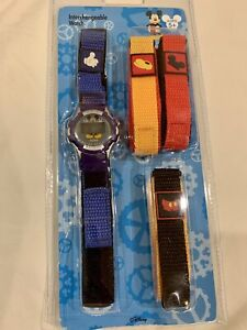 Disneyland Digital Mickey Mouse Interchangeable Watch 4 Straps (3 Brand New)