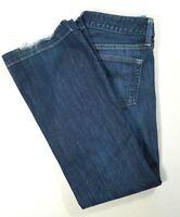 GAP 1969 Womens LONG & LEAN Low Rise Boot Cut Jeans Dark Wash Size 4 SHORT