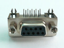 2x DB9 Female Right Angle PCB Mount Connector