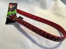 Dog It Faux Leather Collar medium 5/8 inch x 16 Inch Red