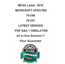 Microsoft MCSA OFFICE 365  (70-346 , 70-347) Test PDF & Sim VERIFIED 2018