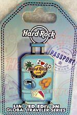 HARD ROCK CAFE SAN DIEGO GLOBAL TRAVELER SUITCASE WHEELS & HANDLE PIN # 93919