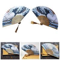 Japanese Fridge Handheld Folding Fan with Traditional Japanese Ukiyo-e Art Print