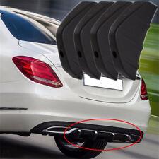 4x Heck Stoßstange Diffusor Hinten Zierleisten Shcwarz PVC für BMW Mercedes Benz