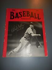 1939 Signed Baseball Magazine HOF Bob Feller Cleveland Indians